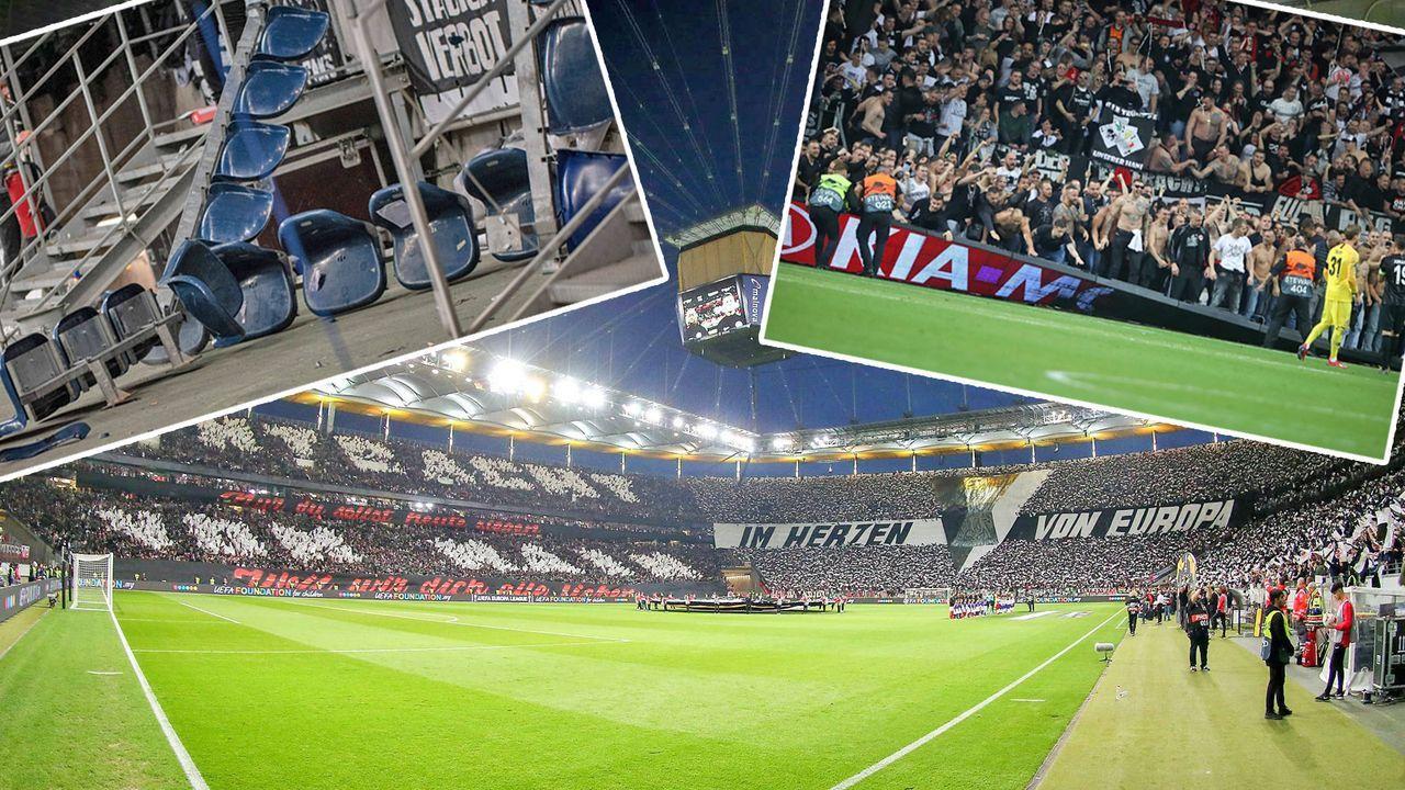 Eintracht Frankfurt im Halbfinale der Europa League! Die besten Bilder aus der Arena - Bildquelle: Imago / Getty