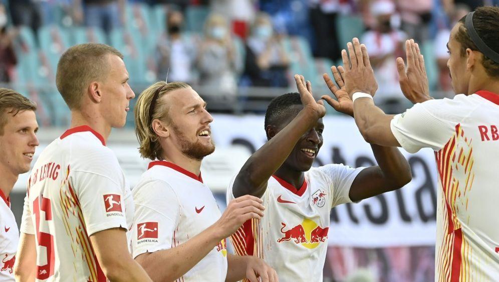 RB Leipzig feiert einen gelungenen Saisonauftakt - Bildquelle: AFPSIDJOHN MACDOUGALL