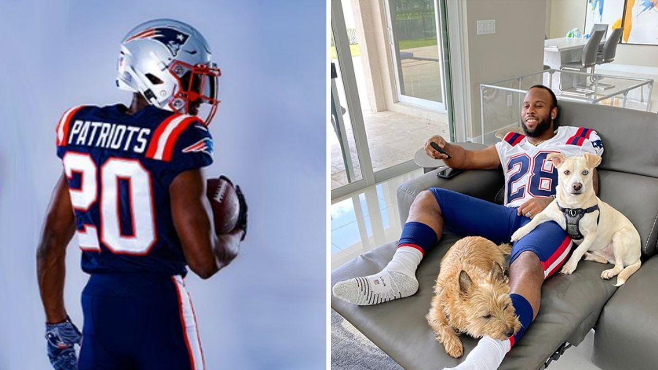 New England Patriots: Trikot-Launch mit falschen Hosen? - Bildquelle: Twitter @patriots / Instagram @sweetfeet