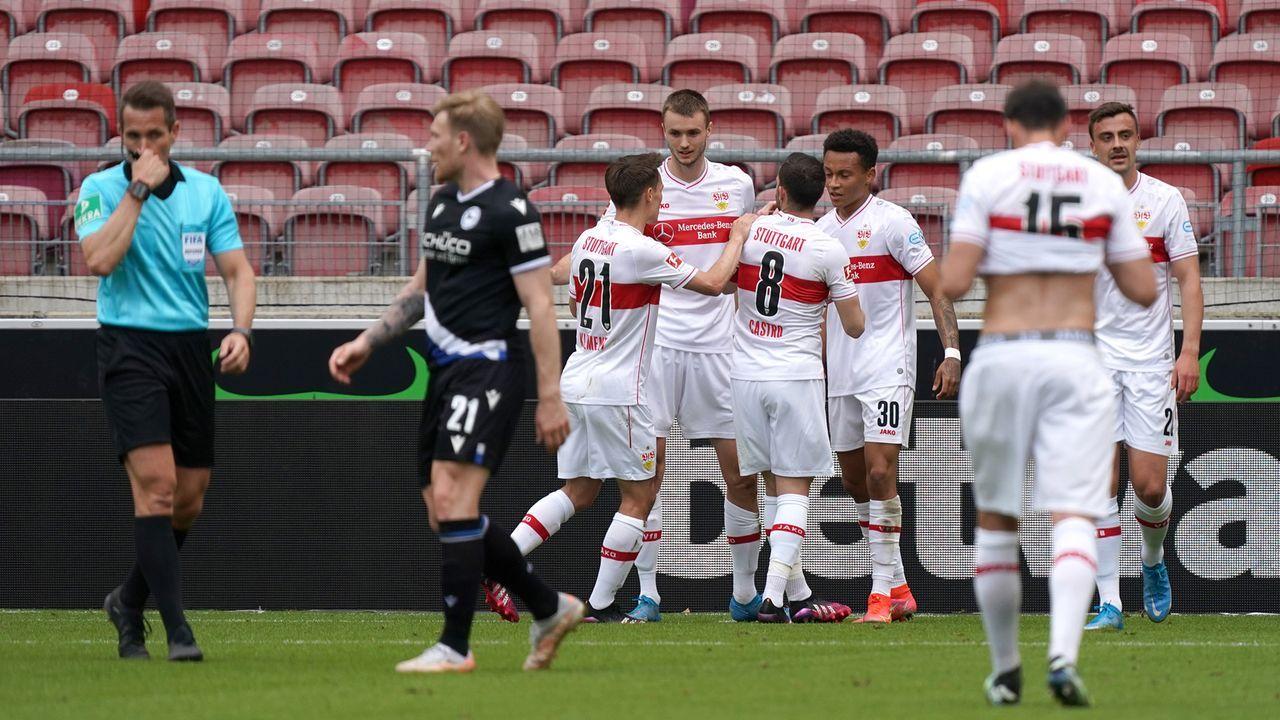 34. Minute: Bielefeld erst geschlagen, dann glücklich