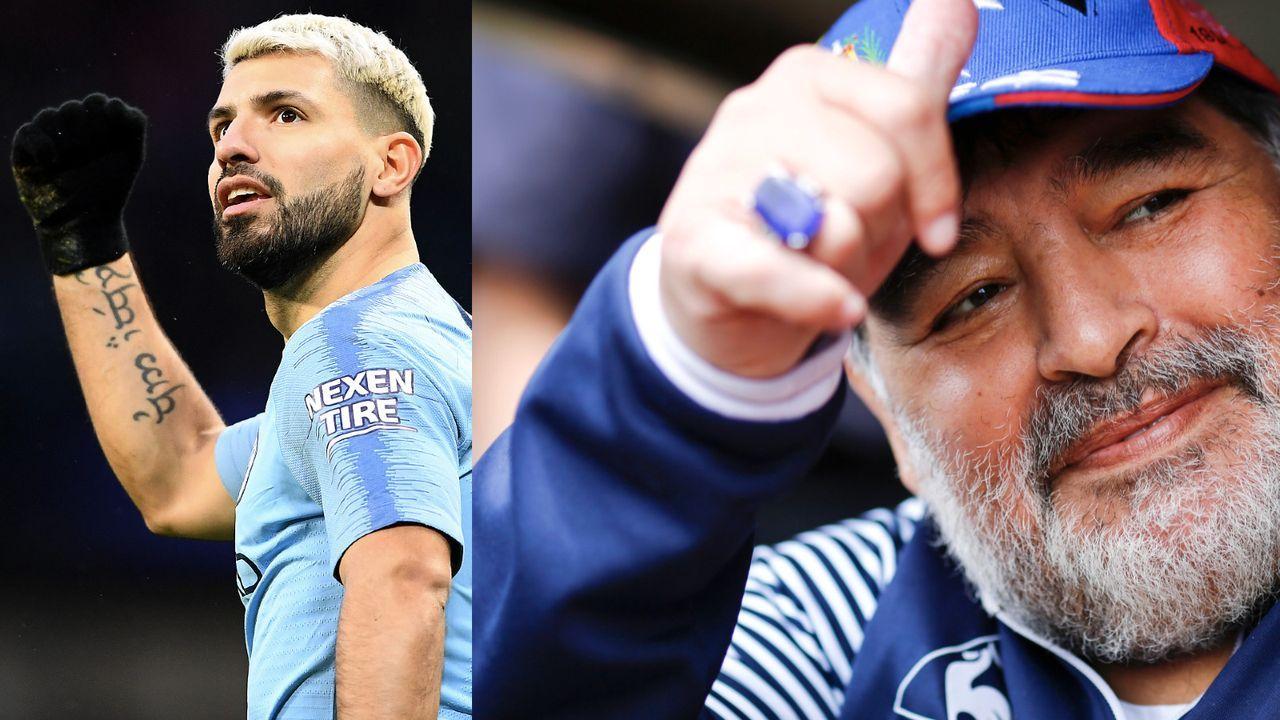 Maradona und Kun Agüero - Bildquelle: Getty