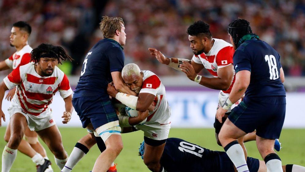 Japan feierte den Einzug in das Viertelfinale - Bildquelle: AFPSIDODD ANDERSEN