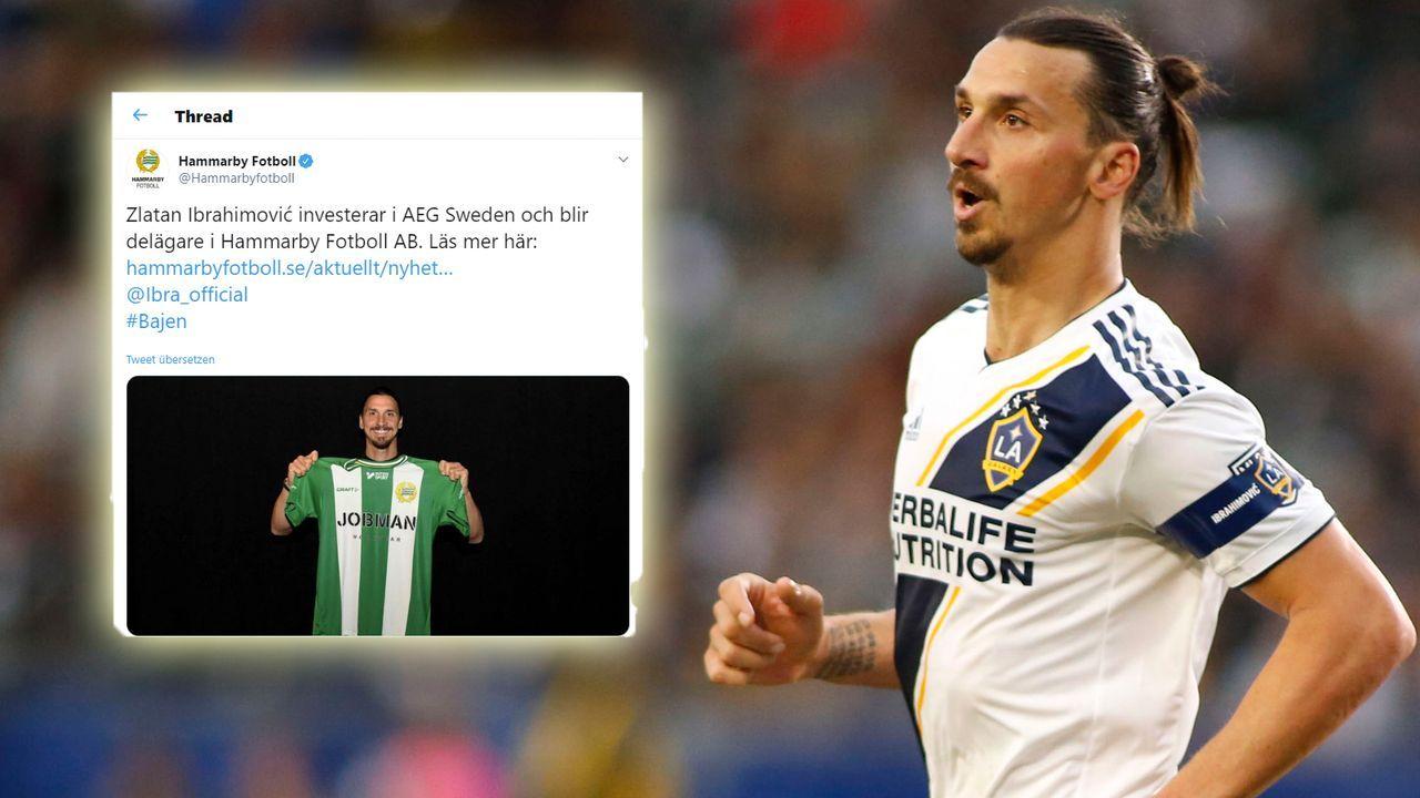 Zlatan Ibrahimovic kauft Klub-Anteile - Bildquelle: Getty Images/Twitter: @hammarbyfotboll