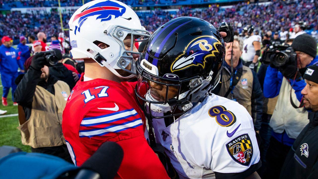 Ravens at Bills: Lamar Jackson vs. Josh Allen - Bildquelle: 2019 Getty Images