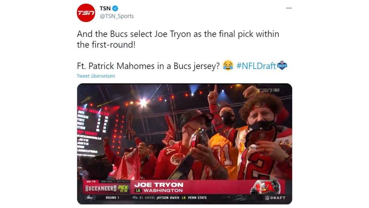 Patrick Mahomes als Bucs-Fan?! - Bildquelle: www.twitter.com