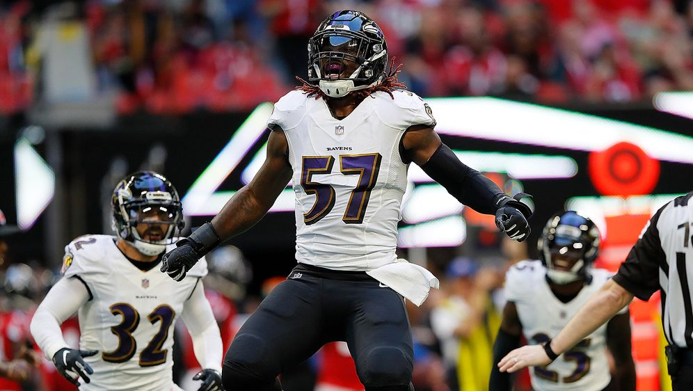 Baltimore Ravens Linebacker C.J. Mosley feiert einen Defensive-Stop gegen di... - Bildquelle: Getty Images