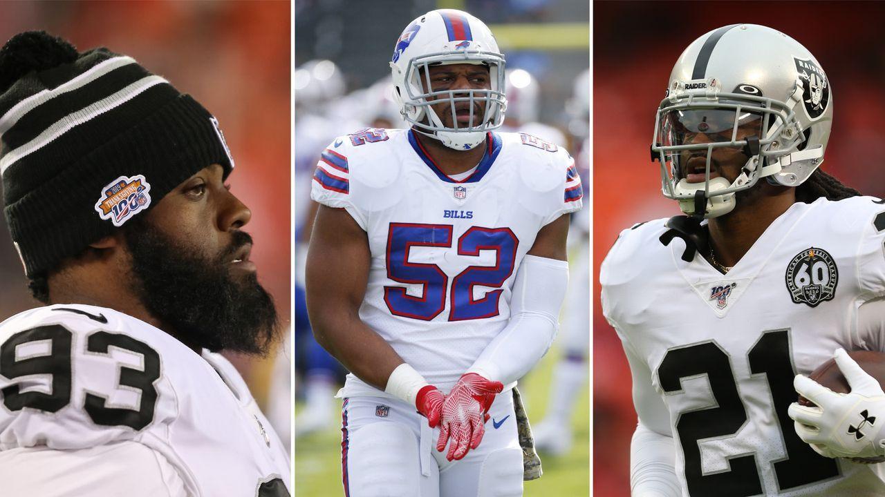 Preston Brown, Terrell McClain und D.J. Swearinger (alle Oakland Raiders) - Bildquelle: Getty / Imago