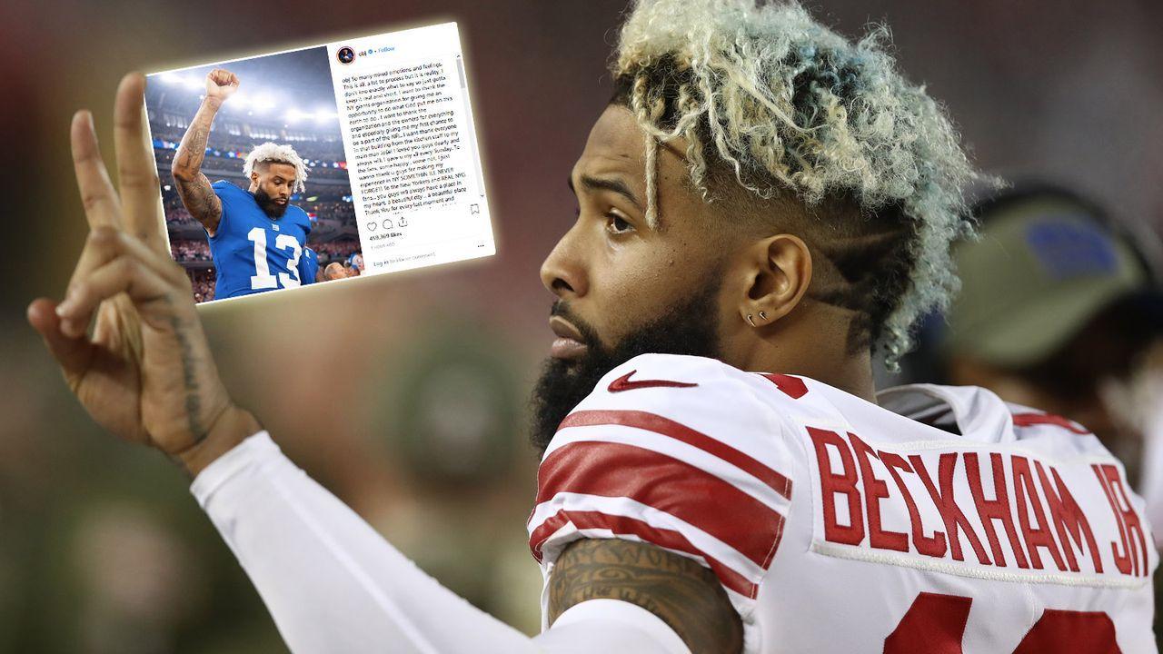 Odell Beckham Jr. verabschiedet sich von den Giants-Fans - Bildquelle: Getty Images/Instagram @obj