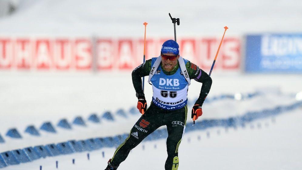 Erik Lesser bei der Single-Mixed-Staffel in Östersund - Bildquelle: AFPSIDJONATHAN NACKSTRAND