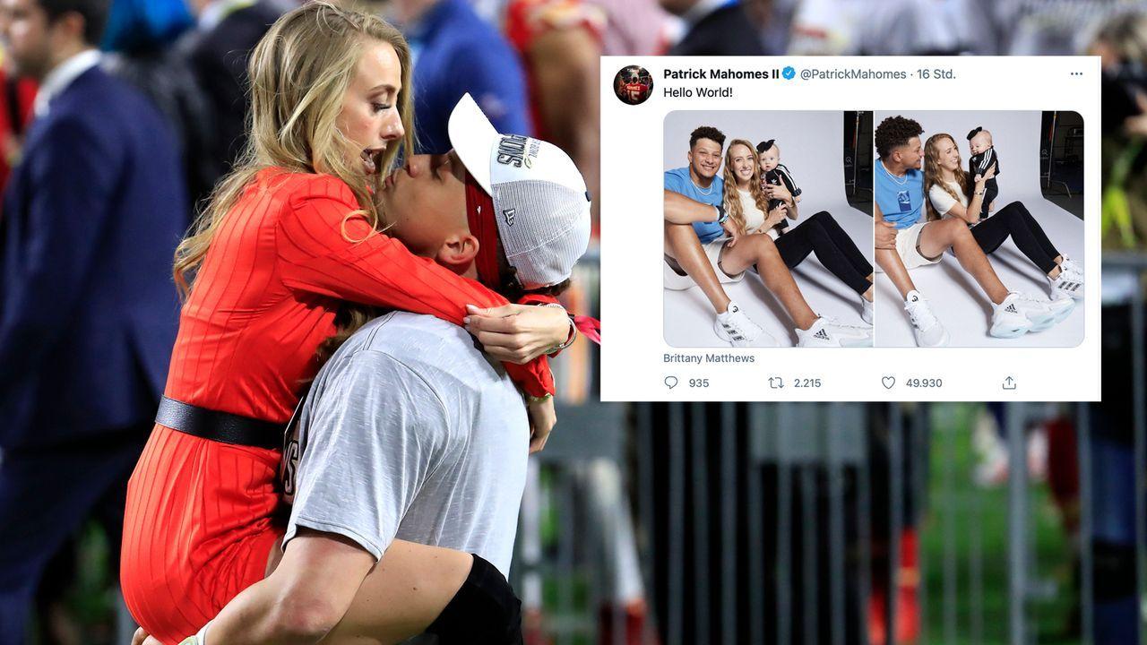 """""""Hallo Welt"""": Patrick Mahomes und Verlobte Brittany zeigen Baby Sterling - Bildquelle: 2020 Getty Images"""