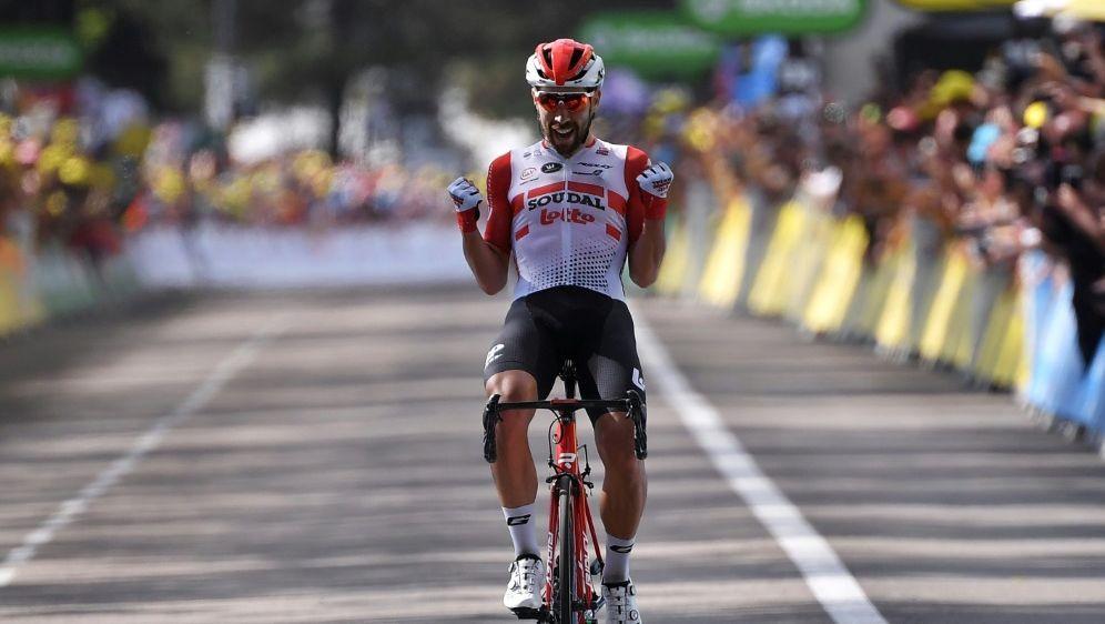 Thomas De Gendt gewinnt die achte Tour-Etappe - Bildquelle: AFPSIDMarco Bertorello