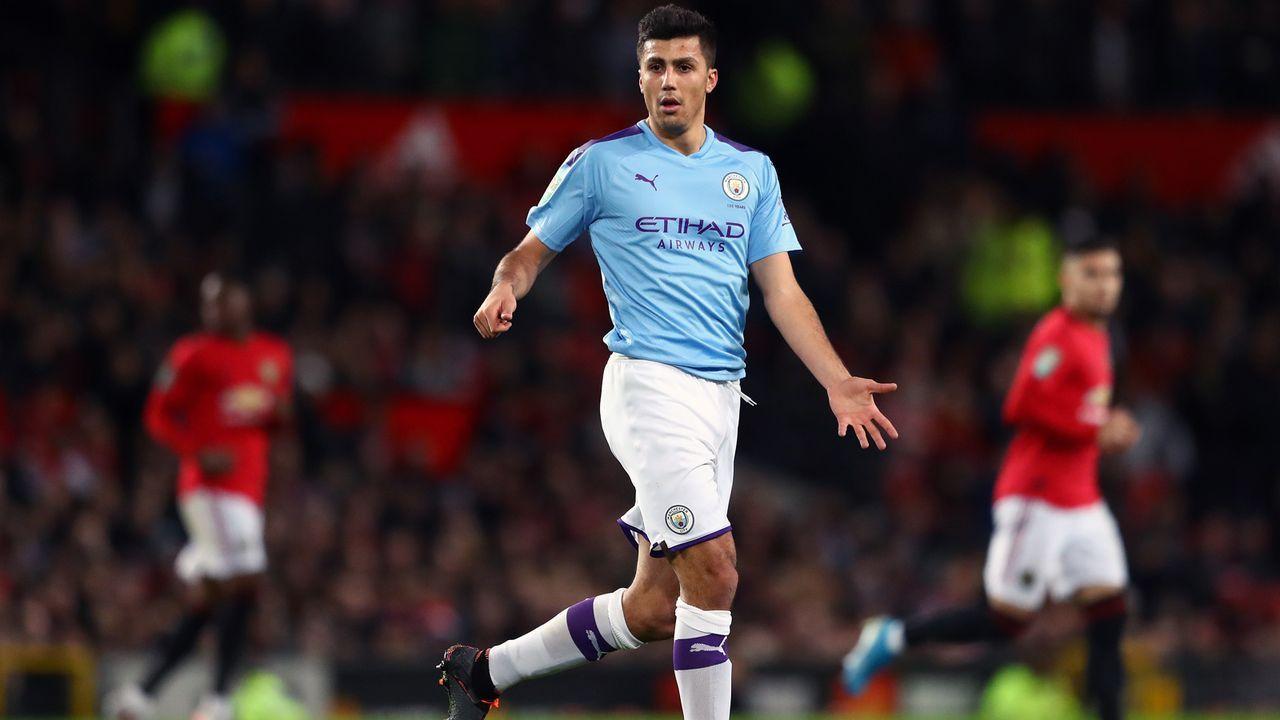 Platz 21 - Rodri (Manchester City) - Bildquelle: 2020 Getty Images