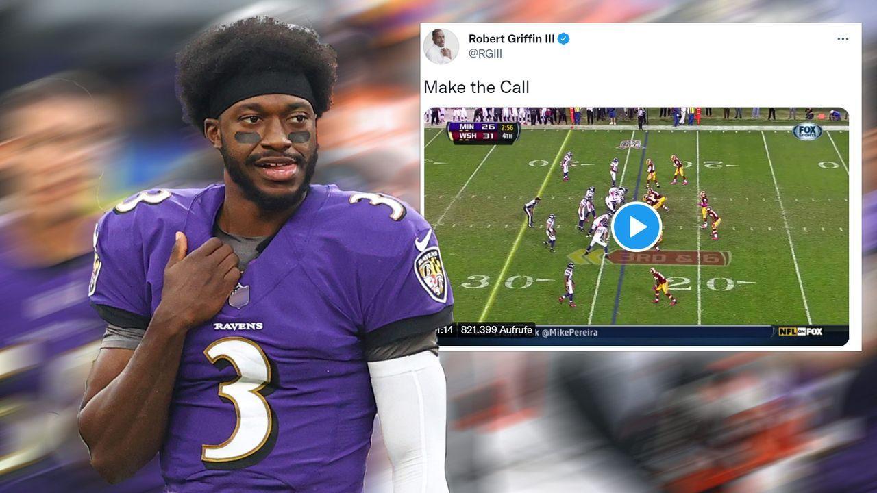 Robert Griffin III bietet sich beim Washington Football Team an - Bildquelle: Getty/Twitter @RGIII