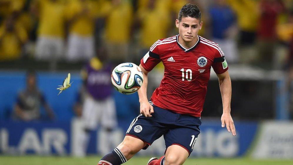 James Rodriguez erzielt sechs Tore, scheidet dennoch aus - Bildquelle: SID-SID-AFPFABRICE COFFRINI