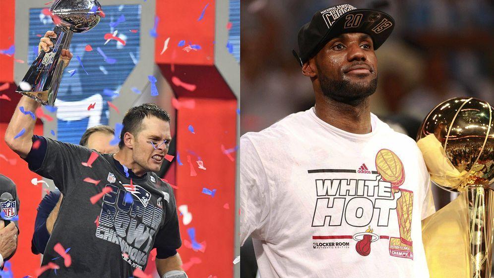 LeBron James und Tom Brady sind Teil einer neuen Goat-Dokumenation. - Bildquelle: Imago