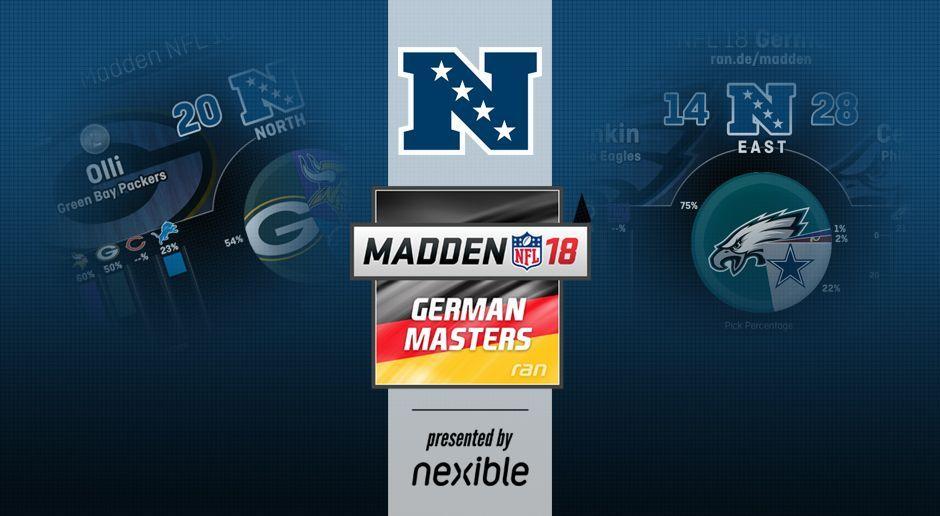 MADDEN NFL 18 German Masters: Alle Statistiken zur NFC - Bildquelle: ran.de