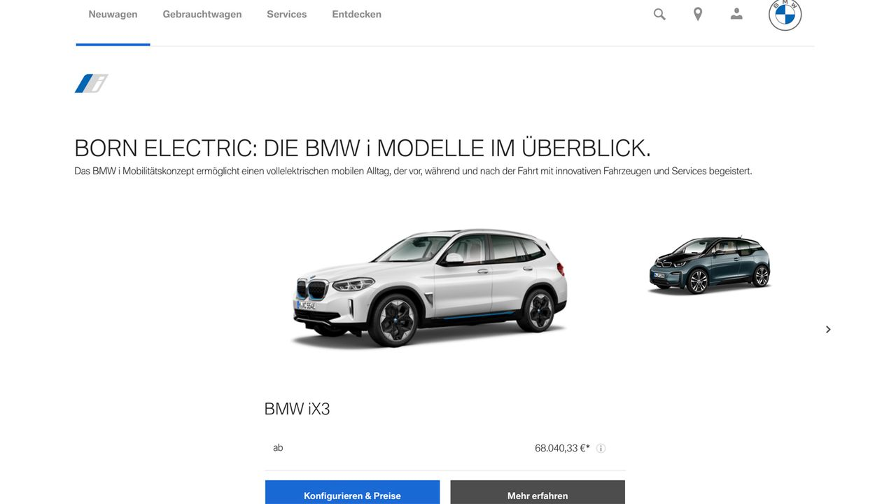 Online-Präsenz auf den Kunden zuschneiden - Bildquelle: BMW