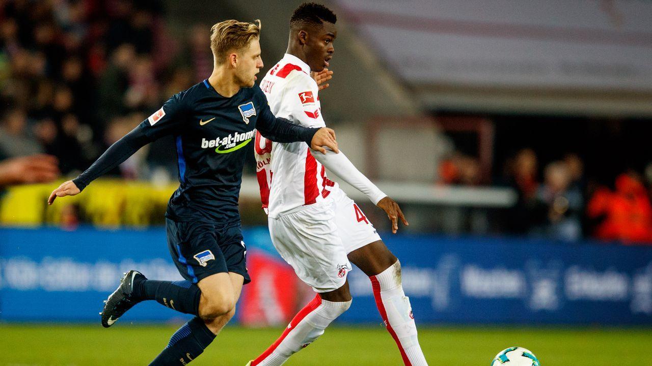 Platz 3 - Yann Aurel Bisseck (1. FC Köln) - Bildquelle: 2017 Getty Images