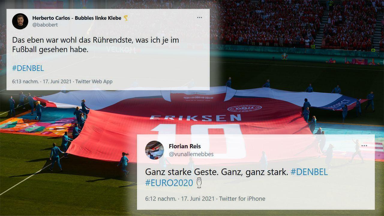 Gänsehaut, rührende Momente und starker Fußball - Die Netzreaktionen zu Dänemark gegen Belgien