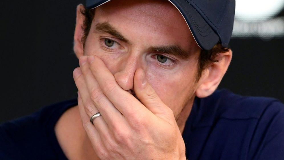 Andy Murray kämpft mit den Tränen - Bildquelle: AFPSIDWilliam WEST