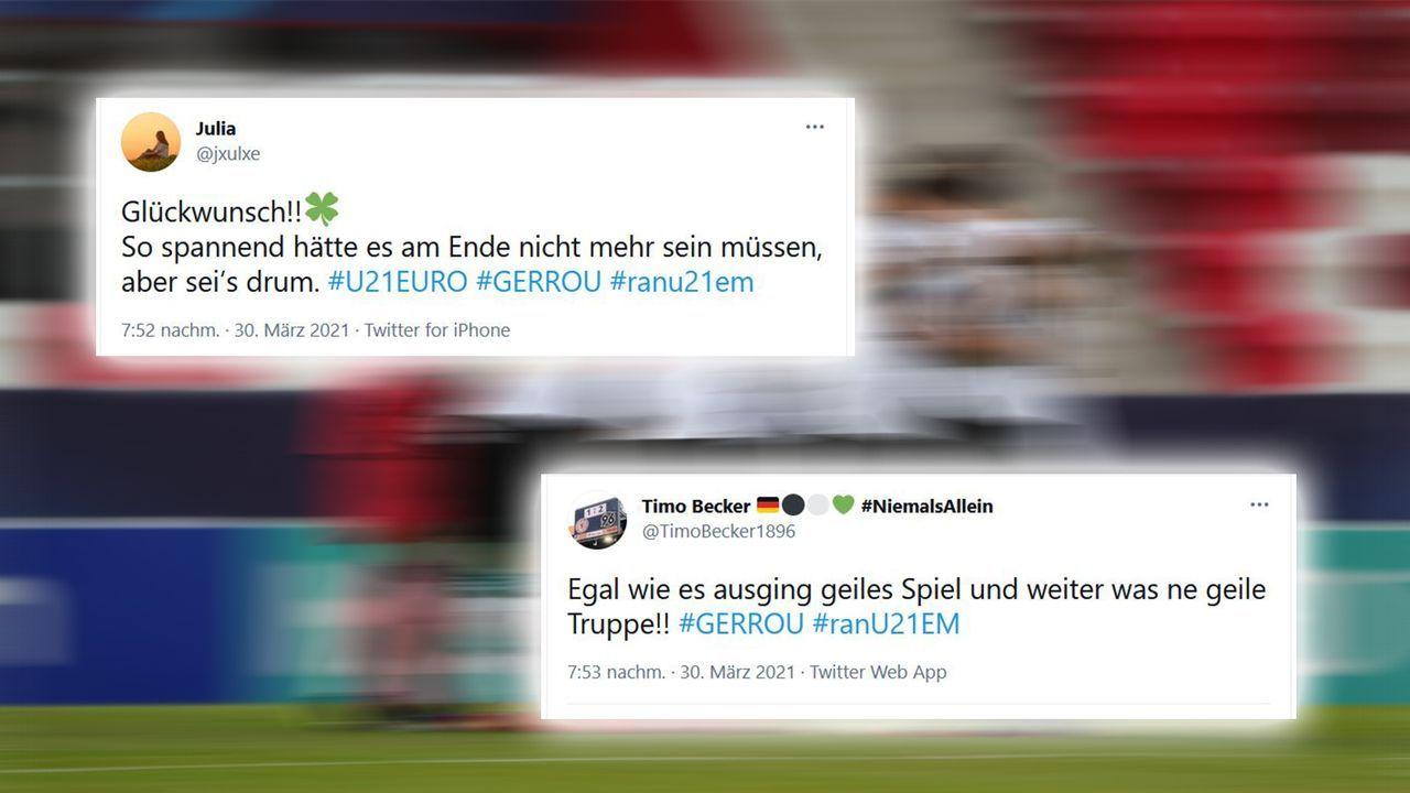 Aufatmen beim Schlusspfiff des Schiedsrichters - Bildquelle: Imago Images / Twitter jxulxe, TimoBecker1896