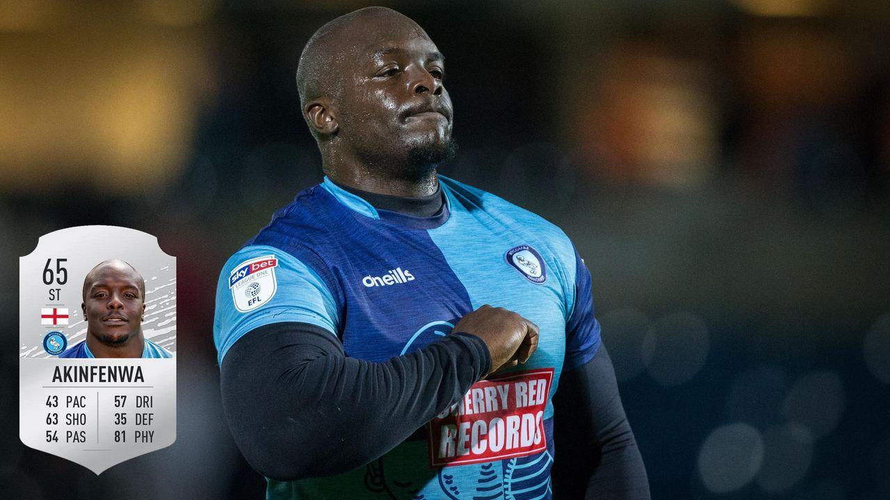 Platz 1: Adebayo Akinfenwa - Wycombe Wanderers - Bildquelle: imago / ea.com