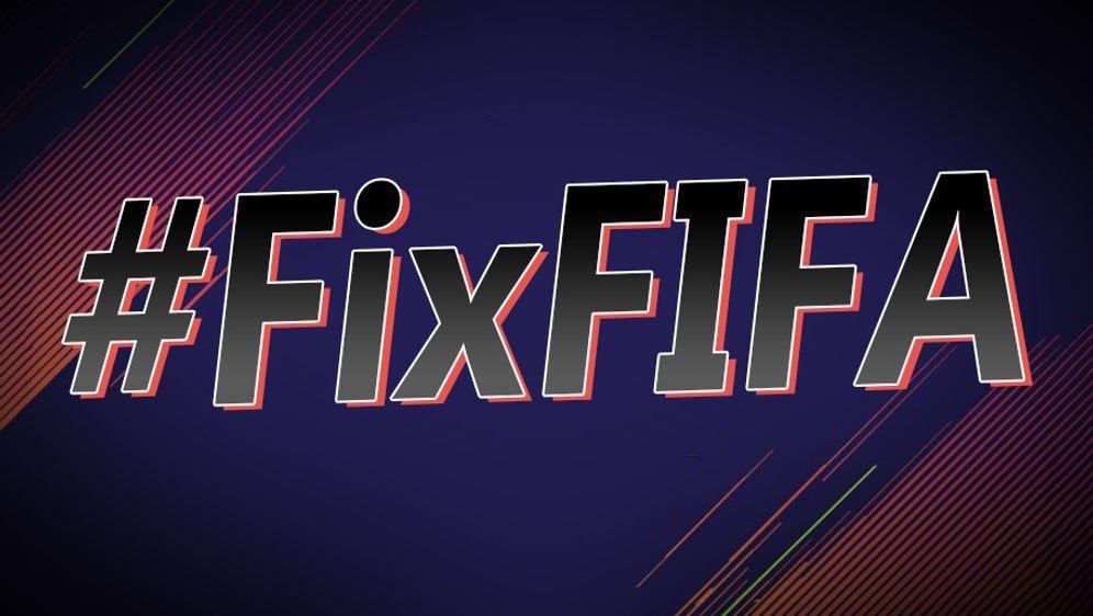 Unter dem #FixFIFA vereint sich die FIFA-Community im Internet. - Bildquelle: ran.de
