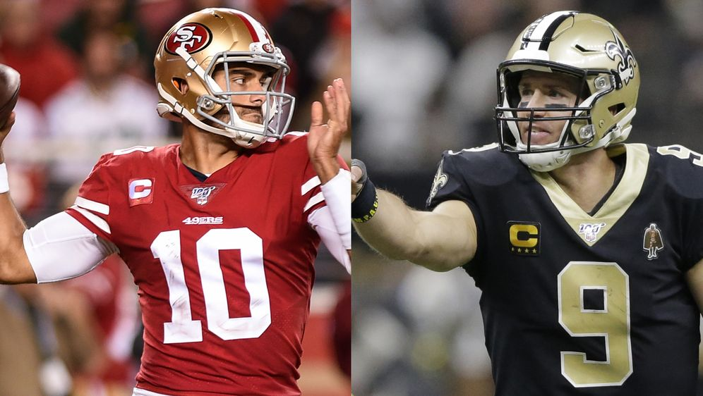 Jimmy Garoppolo und Drew Brees.
