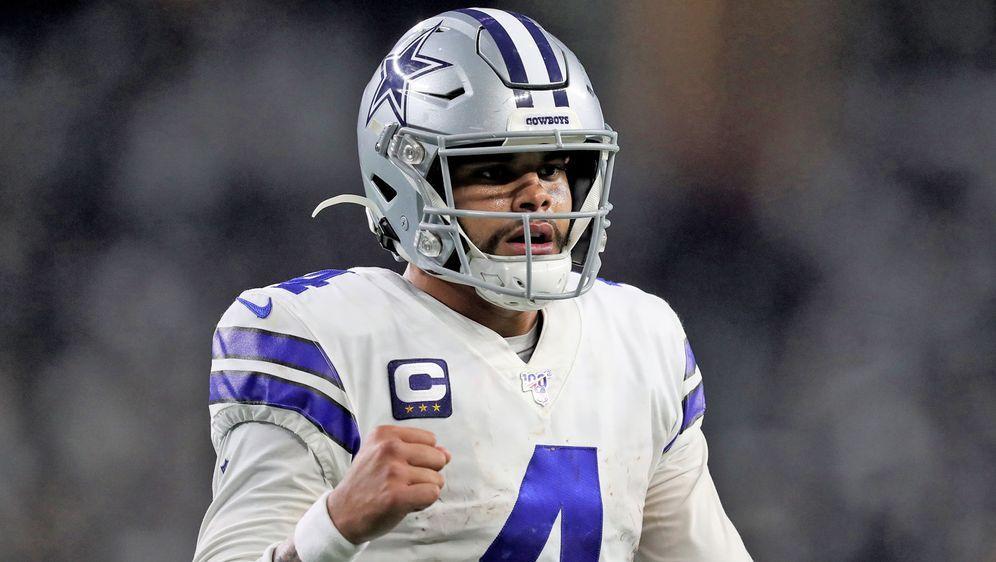 Ihm winkt ein neuer Super-Vertrag: Cowboys Quarterback Dak Prescott - Bildquelle: getty