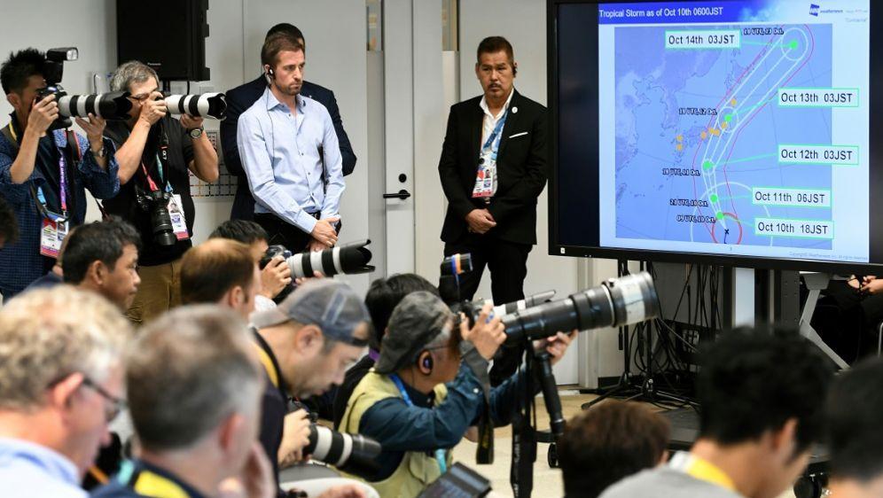 Taifun Hagibis sorgt für Spielabsagen bei der Rugby-WM - Bildquelle: SIDSIDAFPWilliam WEST