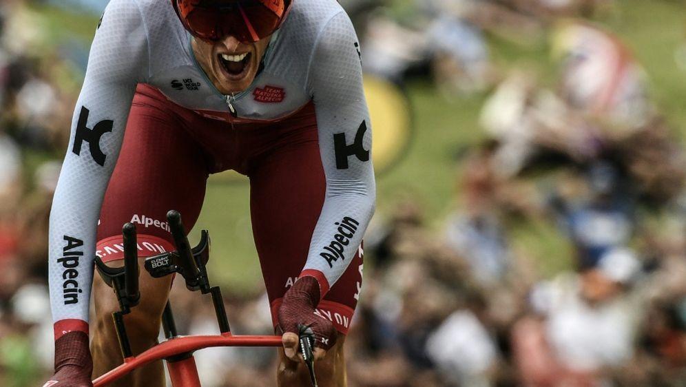 Nils Politt hat den Sieg im Zeitfahren knapp verpasst - Bildquelle: AFPSIDPHILIPPE LOPEZ
