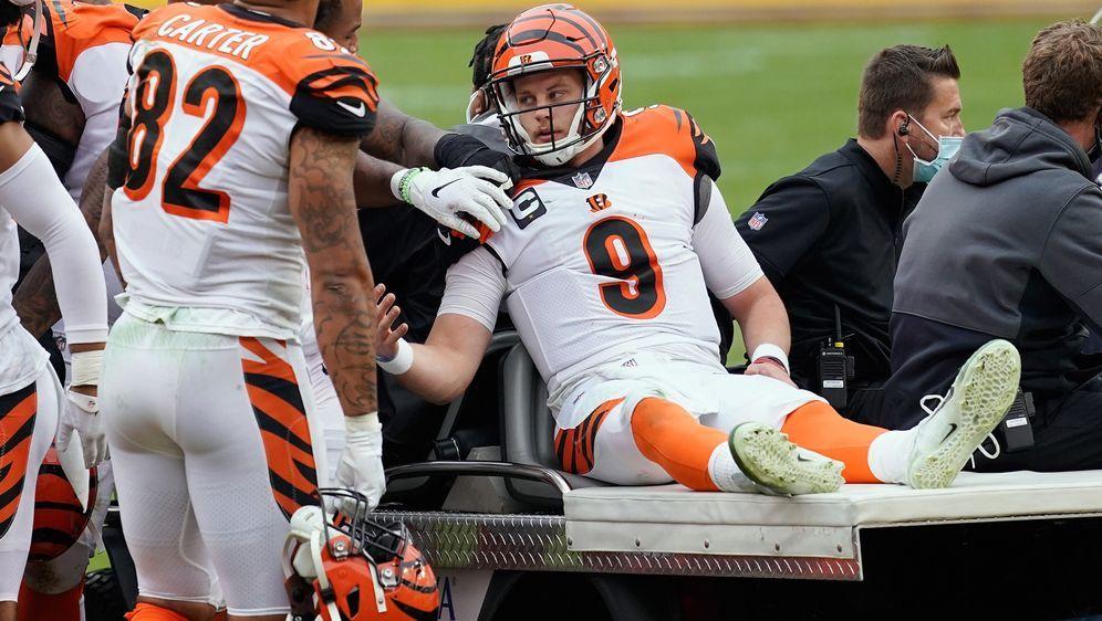 Der Nummer-1-Pick Joe Burrow hat sich schwer am Knie verletzt. - Bildquelle: 2020 Getty Images