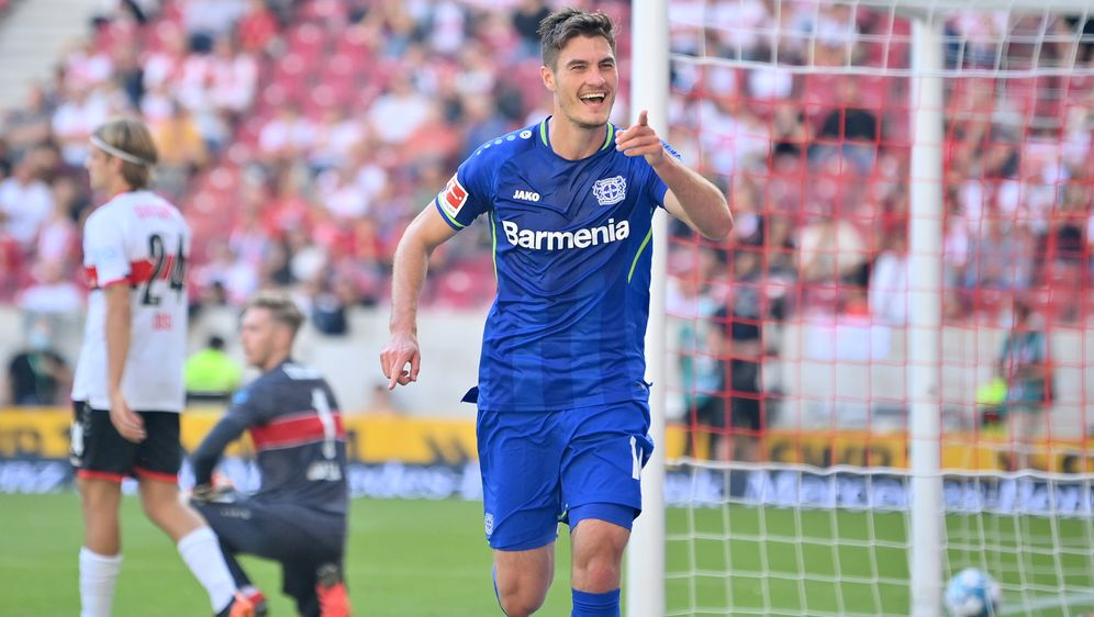 Patrik Schick erzielte das zwischenzeitliche 2:0 für Bayer Leverkusen. - Bildquelle: Getty Images