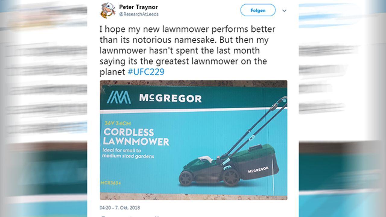 Netzreaktionen zum UFC-Fight Nurmagomedov vs. McGregor - Bildquelle: twitter@ResearchAtLeeds