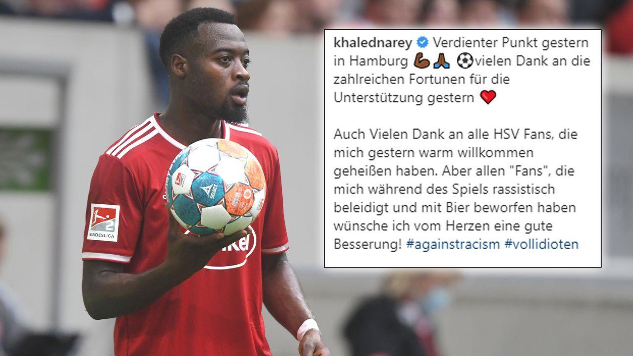 Khaled Narey erhebt Rassismus-Vorwürfe nach Spiel gegen den HSV - Bildquelle: Imago