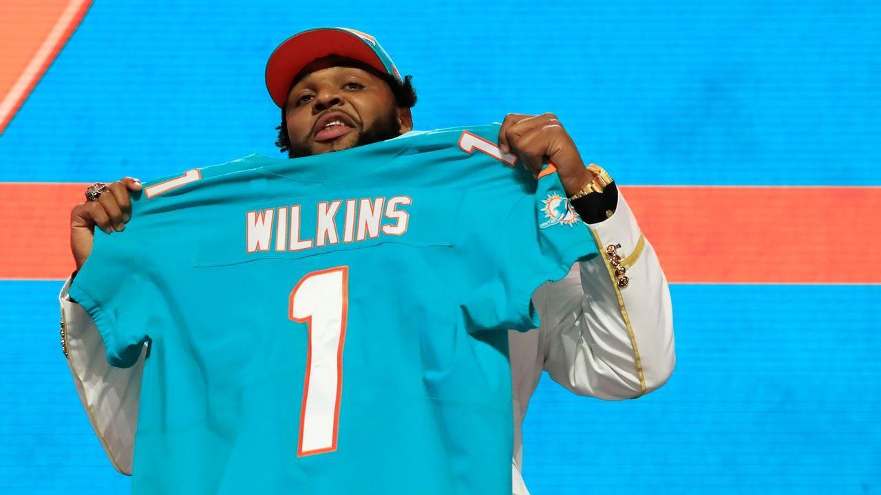 13. Pick - Miami Dolphins: DT Christian Wilkins (Clemson) - Bildquelle: 2019 Getty Images