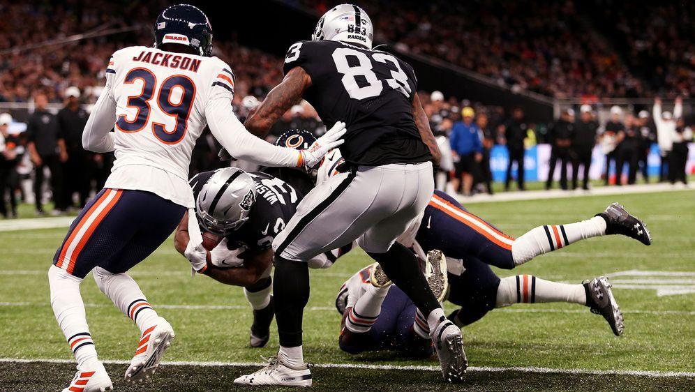 Im ersten NFL London Game der Saison trafen die Chicago Bears auf die Oaklan...