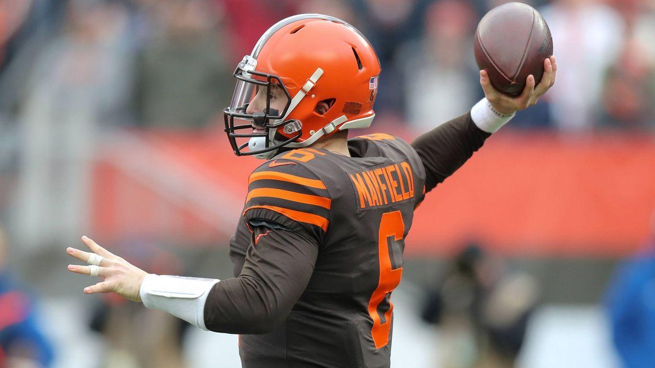 Pick 1: Baker Mayfield (Quarterback, Cleveland Browns) - Bildquelle: imago/Icon SMI