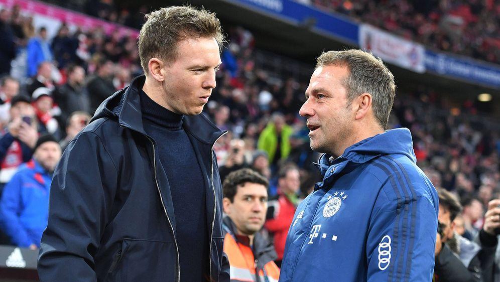 Gespräche mit den Bayern? Leipzig-Coach Julian Nagelsmann weiß von nichts. - Bildquelle: Imago Images