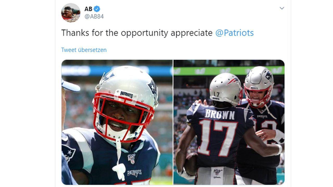 Antonio Brown (New England Patriots) - Bildquelle: Twitter.com/AB84