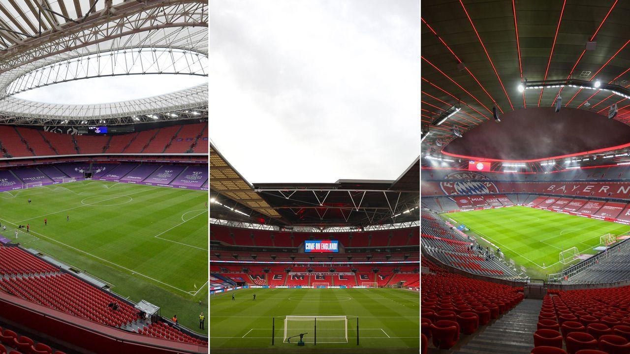 Fußball-EM 2021: So planen die Städte ihre Zuschauerauslastung im Stadion - Bildquelle: Getty Images / Imago Images