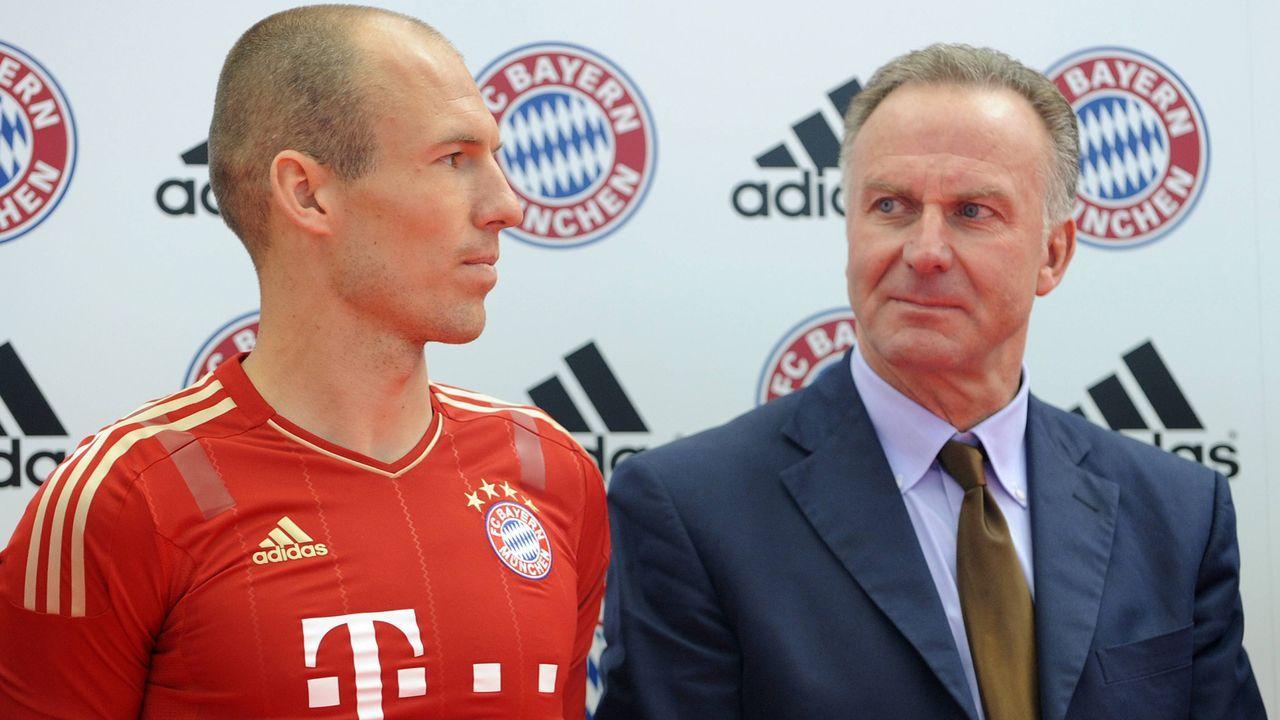 Rummenigge erklärt Finanzierung des Robben-Transfer - Bildquelle: imago sportfotodienst