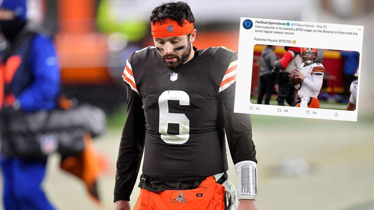 175.700 US-Dollar Gewinn: Wettfreund setzt auf Browns als schlechtestes Team der Regular Season - Bildquelle: Getty Images/twitter.com @FDSportsbook