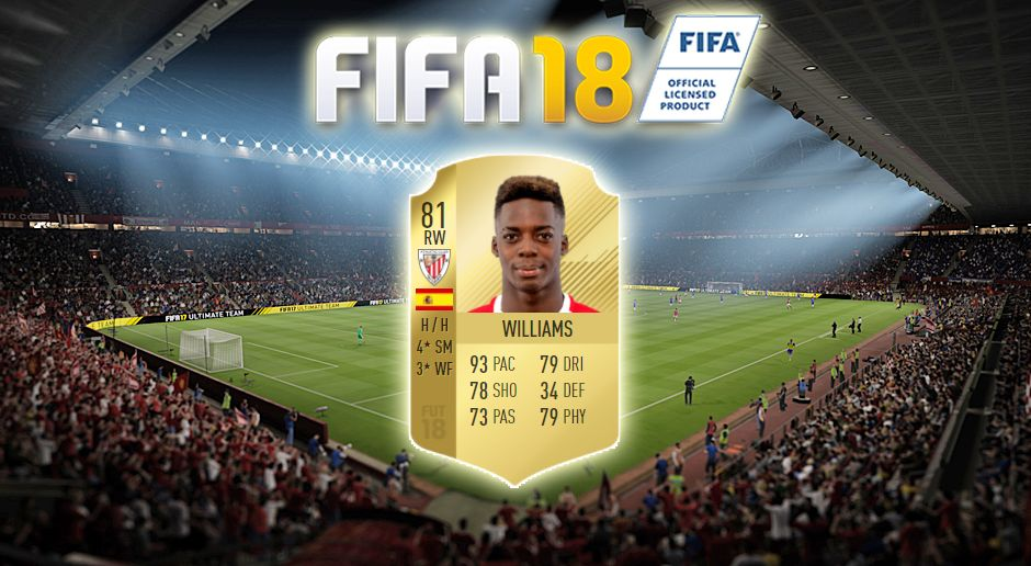 Platz 20: Inaki Williams (Athletic Bilbao) - Bildquelle: EA Sports