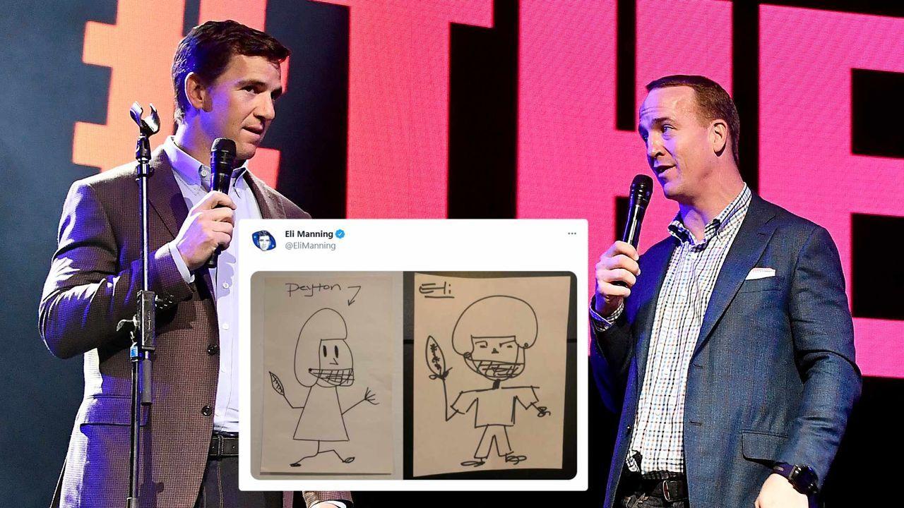 Eli vs. Peyton: Manning-Brüder liefern sich Zeichen-Wettbewerb auf Twitter - Bildquelle: getty/twitter: @EliManning