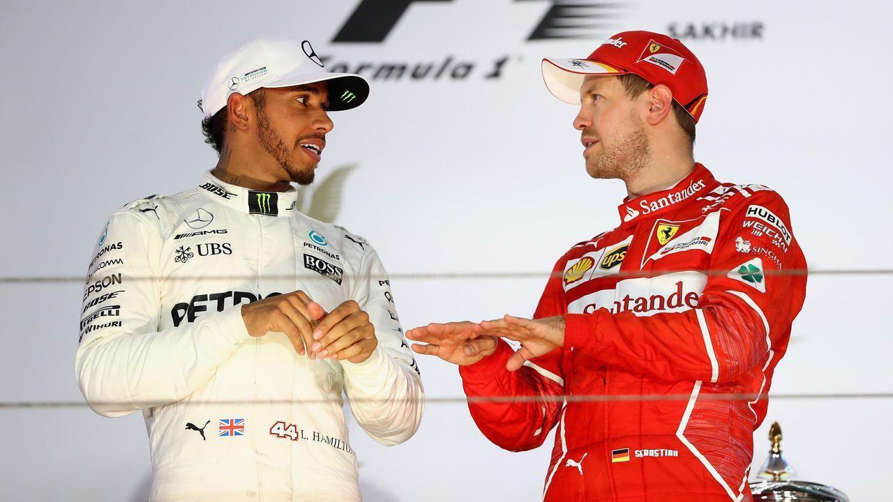 Das Duell beim 1000. F1-Rennen: Lewis Hamilton vs. Sebastian Vettel - Bildquelle: 2017 Getty Images