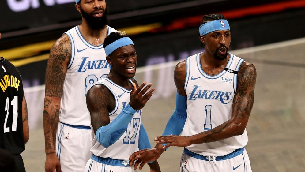 Schröder (Mitte) kassiert mit LA Lakers Rückschlag - Bildquelle: AFPGETTY SIDELSA