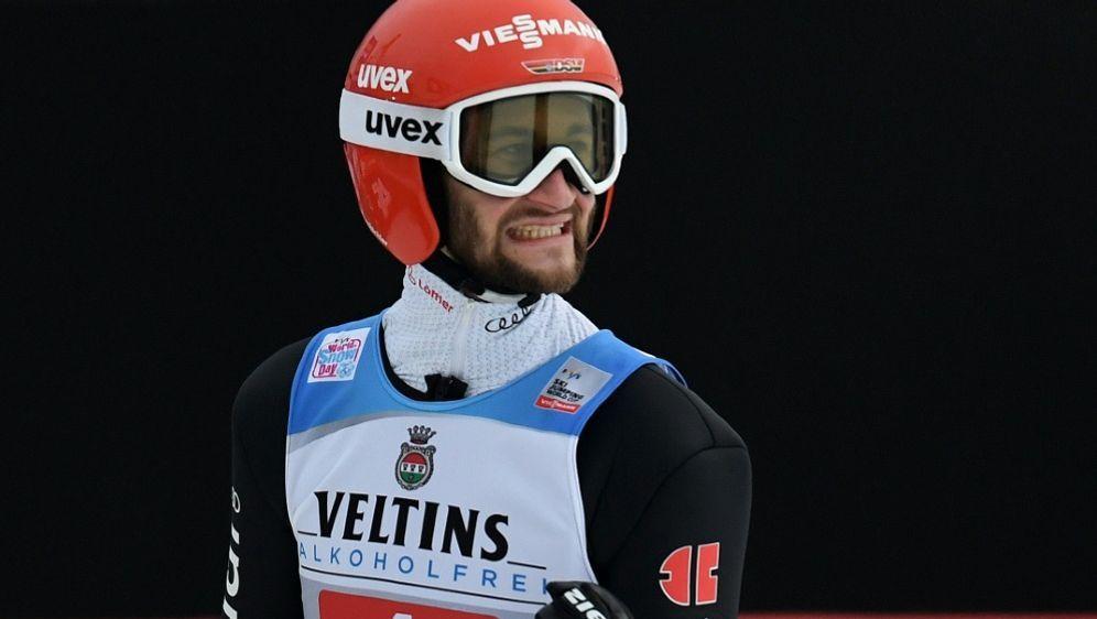 Eisenbichler sprang mit 146 Metern auf Platz eins - Bildquelle: AFPSIDCHRISTOF STACHE