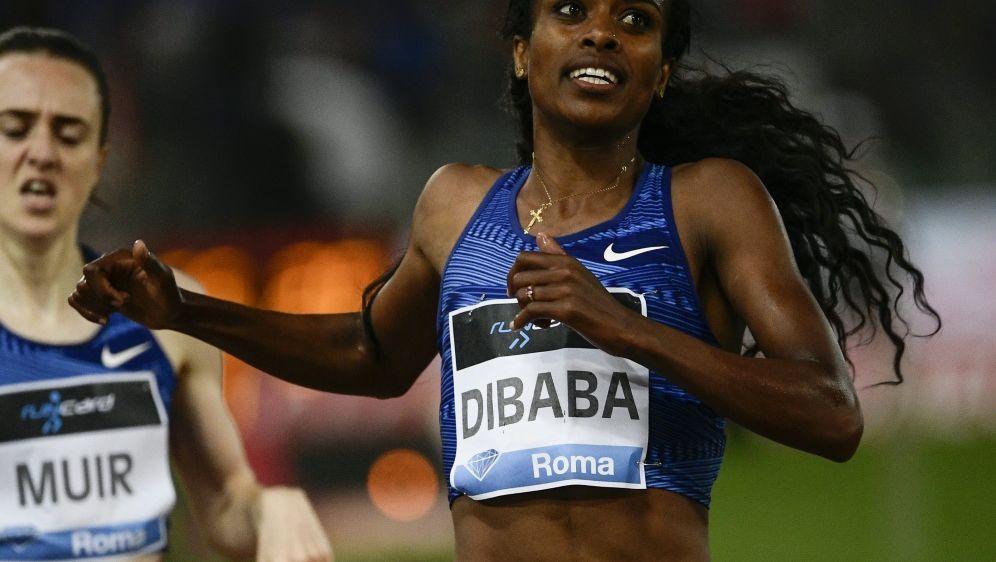 Dibaba lief den Weltrekord über 1500 m - Bildquelle: AFPSIDFILIPPO MONTEFORTE