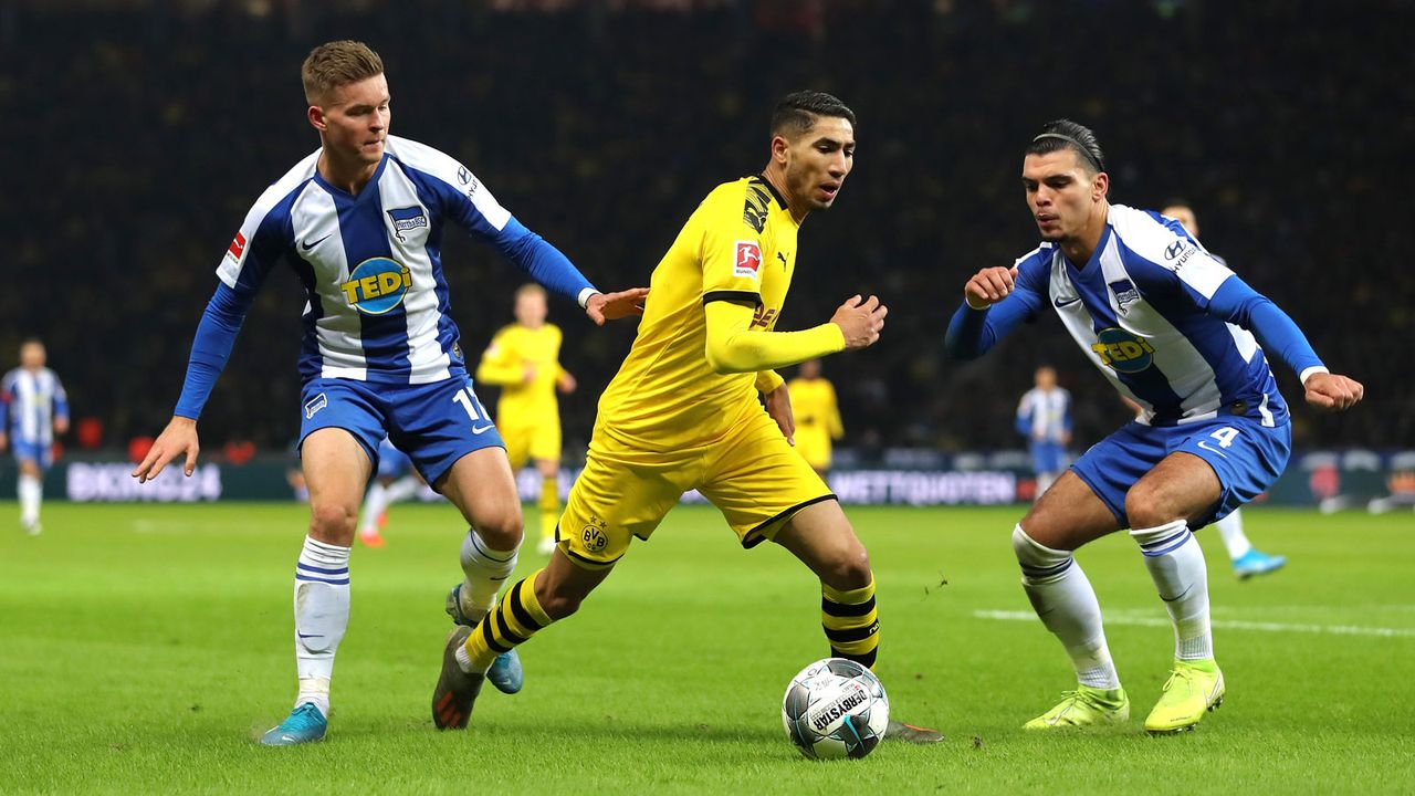 Borussia Dortmund (60 Punkte, +45 Tore) - Hertha BSC (38 Punkte, -7 Tore) - Bildquelle: Getty Images